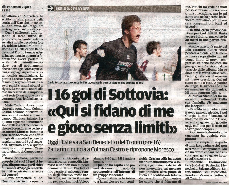 Intervista a DARIO SOTTOVIA, il BOMBER!